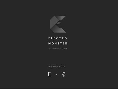 Electro Monster Logo Design brand identity branding graphic logo design logo branding brand identity