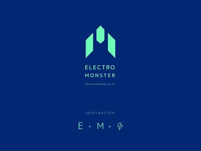 Electro Monster Logo Design brand identity branding graphic logo logo design design branding brand identity