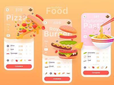 Food delivery app | The second part type cute inspiration freebie mobile icon gradient ios food app design branding desktop ux ui illustration vector web dribbble affinitydesigner