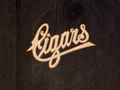 Cigars_Dribbble trype logo graphic design cigars cigar retro