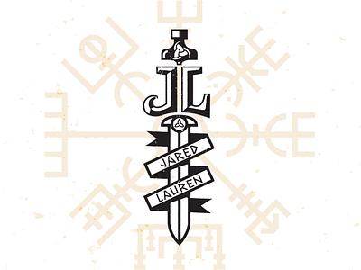 J-L Viking wedding mark_drib monogram l j graphic design mikebruner sword viking