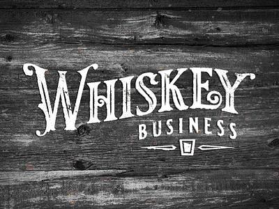 Whiskey Business_drib typography crest logo mikebruner retro whiskey