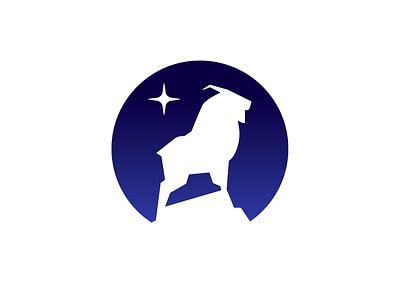 Mnt Goat-drib majestic silhouette badge circle mountain goat mikebruner strength mountain goat