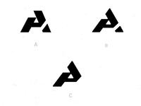AP drib2 bw monogram graphic logo mark icon mikebruner p a