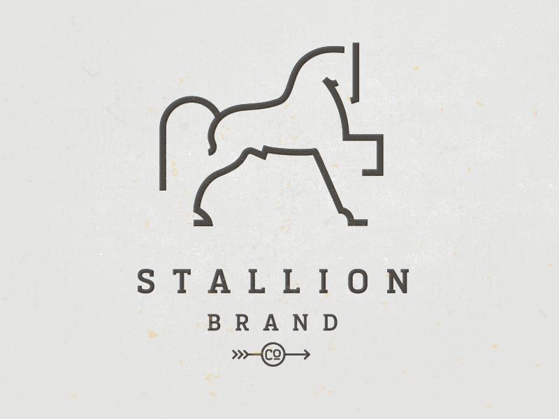 minimal stallion logo design