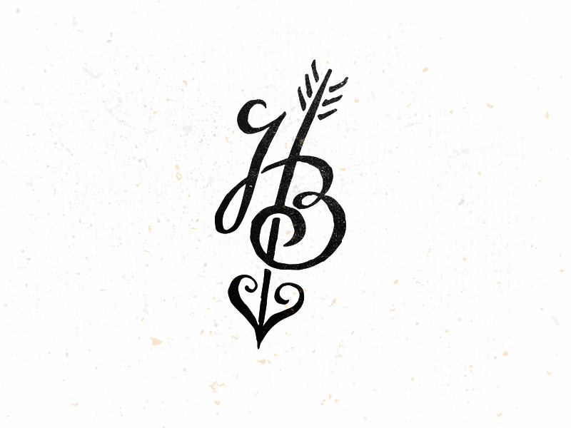 h b monogram by mike bruner on dribbble