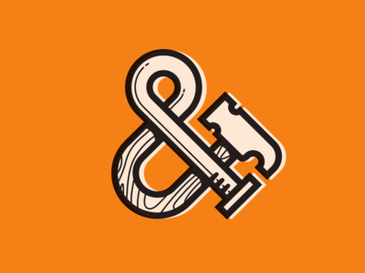 Hammer-Nail ampersand hammer nail ampersand logo cion mike bruner design illustration
