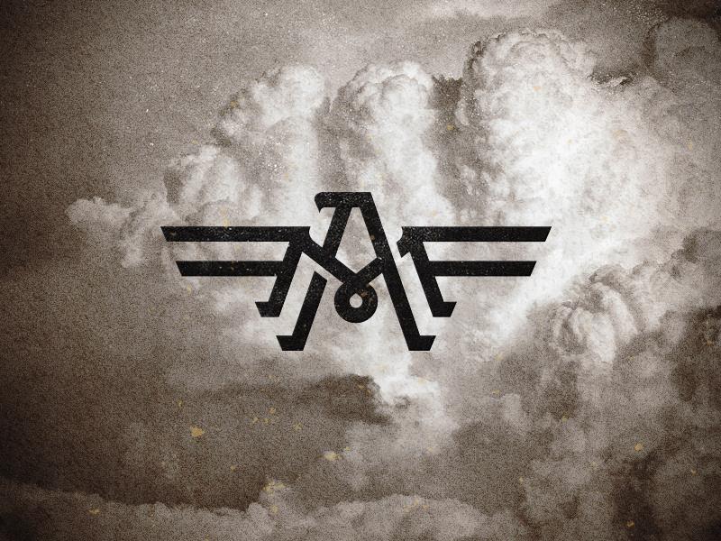 FAM- 1 f a m eagle air museum logo monogram mike bruner design icon type
