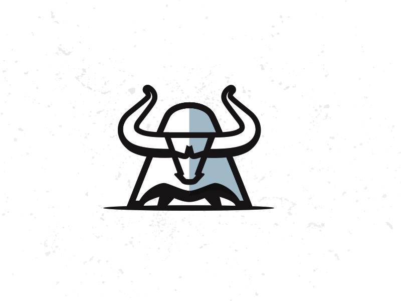 CHARGE! bull graphic icon mark logo illustration mike bruner design