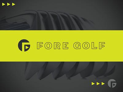 golf Drib brand icon graphic designwisely putter logo design mikebruner golf g f