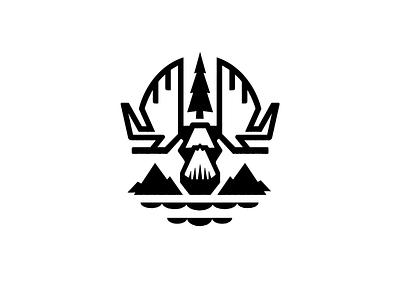 Moose 2020 Drib wilderness explore lake illustration mikebruner mountains moose