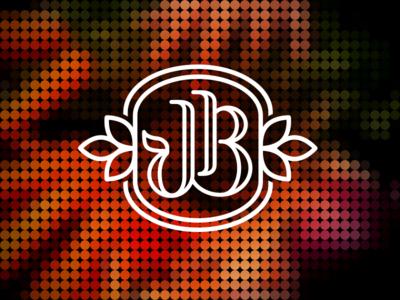 JB-2 j b organic mongram logo icon design mike bruner food