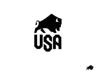 Bison USA 2021 drib logo usa buffalo mikebruner crest bison