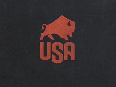 Bison USA 2021 drib_2 crest america usa buffalo logo mikebruner bison