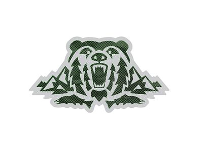 Bear Country_2 bear logo patch alaska outdoors grizzly fish fishing mountains salmon bear