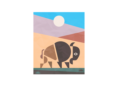 Bison abstract_drib wildlife illustration buffalo graphic abstract mikebruner bison