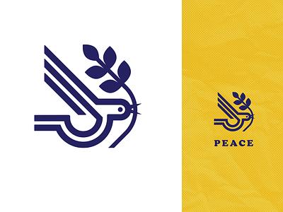 PEACE_drib icon leaf branch bird design graphic logo mikebruner peace olivebranch dove