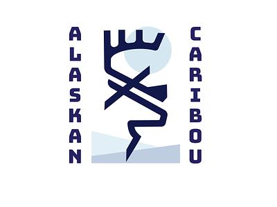 Alaskan Caribou branding logo crest stamp alaska animals adventure outdoors mikebruner wildlife caribou