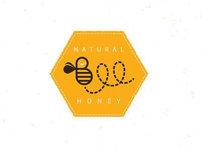 Bee Lable bear honey farm crest logo bee mike bruner design illustration graphic badge
