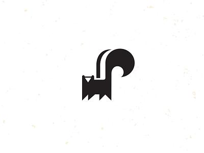 Little Stinker skunk stinker smell icon logo mike bruner graphic illustration