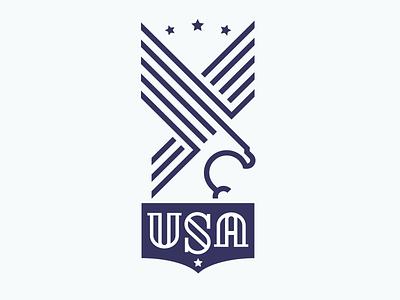 Eagle USA eagle stars stripe usa patriotic strength stamp crest mike bruner graphic logo