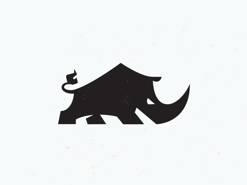 Rhino 2 bruner rhino agressive strong tough logo graphic mike