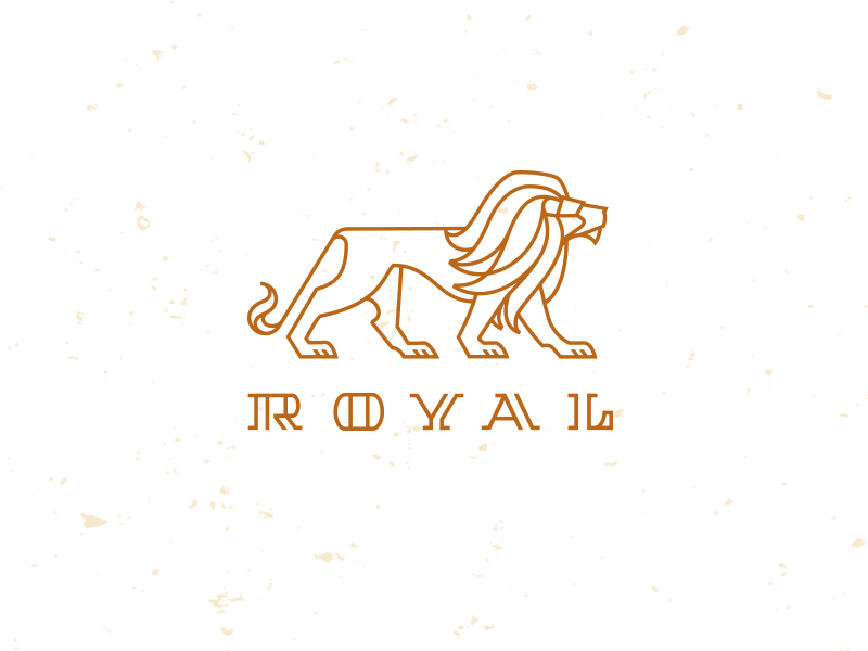 Royal lion logo mike bruner majestic graphic monoline illustration