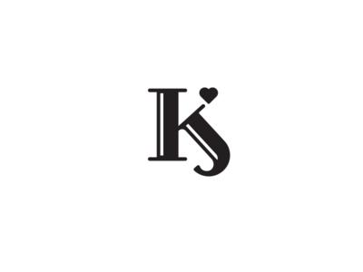 K J Monogram k j monogram wedding mike bruner design logo heart