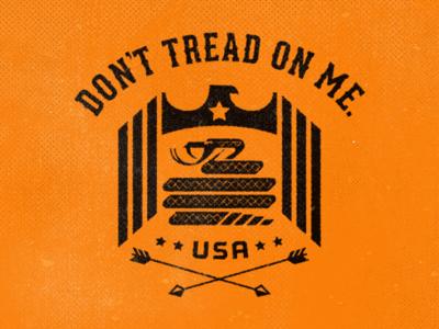 USA- Dont Tread On Me usa graphic design logo bruner mike patriotic snake eagle