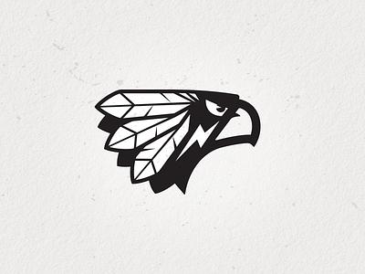 Eagle Warrior 2 brave feather design logo bruner mike sports hawk. warrior eagle
