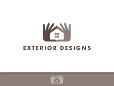 Exterior Designs _drib contractor siding exterior identity bruner mike icon design logo window house