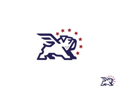 Bulldog-drib bruner mike illustration design logo strong wings hero bulldog
