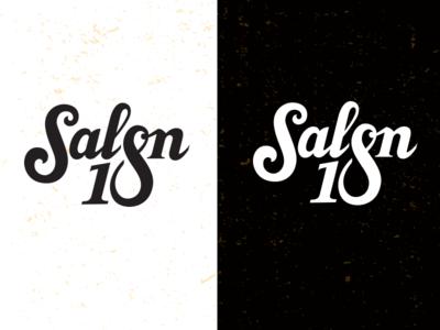 Salon 18_drib design brand typography bruner mike script logo 18 salon
