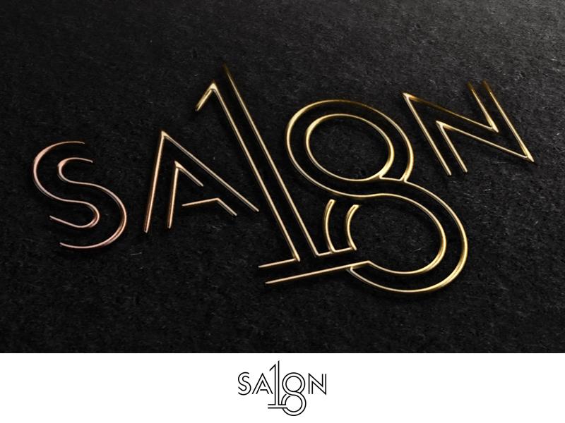 Salon 18_2 Drib design brand typography bruner mike script logo 18 salon