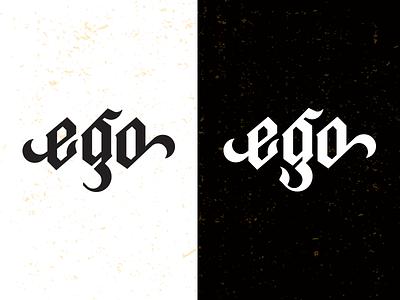 EGO_ 1 Drib design wordmark typograhpy bruner mike icon logo ego type