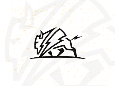 Thunder_drib strength powerful graphic bruner mike icon buffalo bison strong thunder