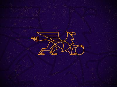 Griffin-drib bruner mike monoline graphic illustration griffin