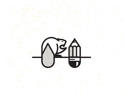 Beaver Sharpener_drib bruner mike illustration pencil beaver