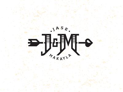 J&M_monogram-drib brand design crest bruner mike wedding monogram m j