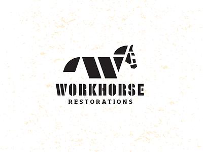 Workhorse_2 Drib craft design bruner mike crest logo restoration construction carpenter horse