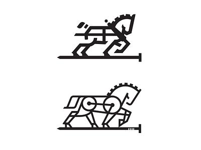 Workhorse_alts_drib craft design bruner mike crest logo restoration construction carpenter horse