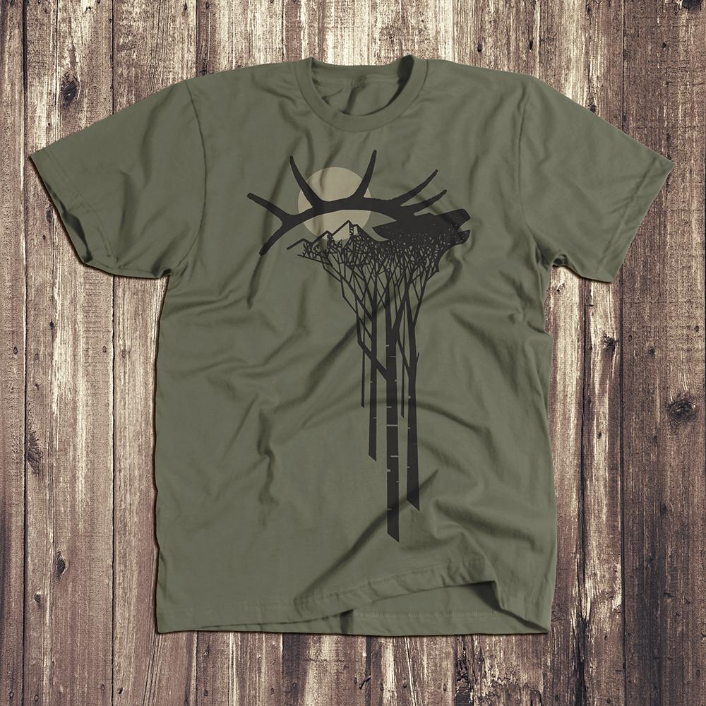 Elk  tshirt lieutenant green sm