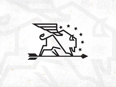 Bison_drib design arrow illustration bruner mike buffalo icon america bison