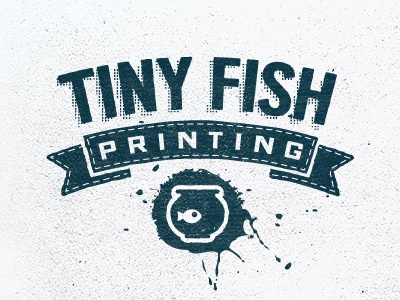 Tiny Fish Printing  tiny fish printing embroidery screen printing fishbowl stiching