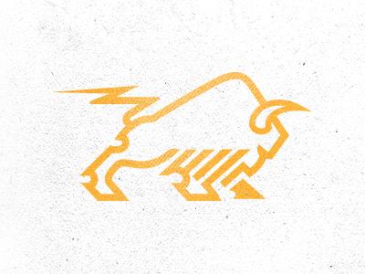 Bison + Power bison buffalo energy strong mike bruner bolt lightening