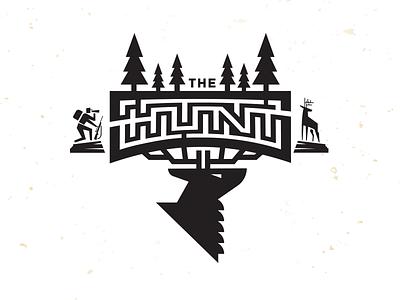 Hunt Maze_drib illustration design bruner outdoors hunt deer