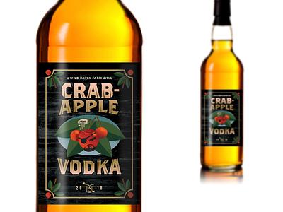 Wild Haven Crabapple Vodka_drib illustration design bruner lable vodka crabapple