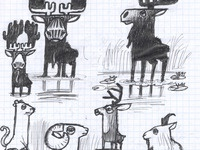 Animal Breakfast Sketch
