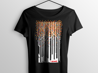 Forest Fox Abstract Drib teeshirt graphic design bruner illustration abstract forest fox