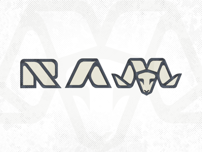 Ram Wordmark_drib graphic logo illustration bruner wordmark ram